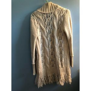 American Eagle Outfitters Sweaters - AE Open Fringe Sweater Coat